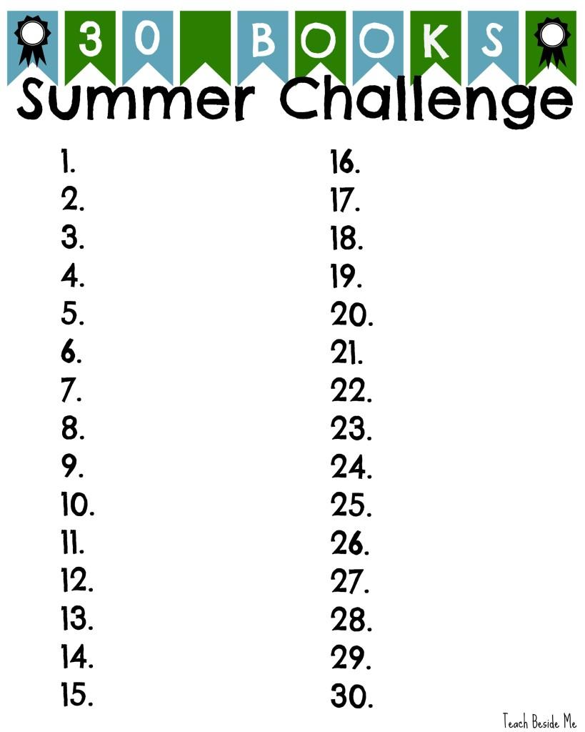 Summer reading Challenge- Teach Beside Me