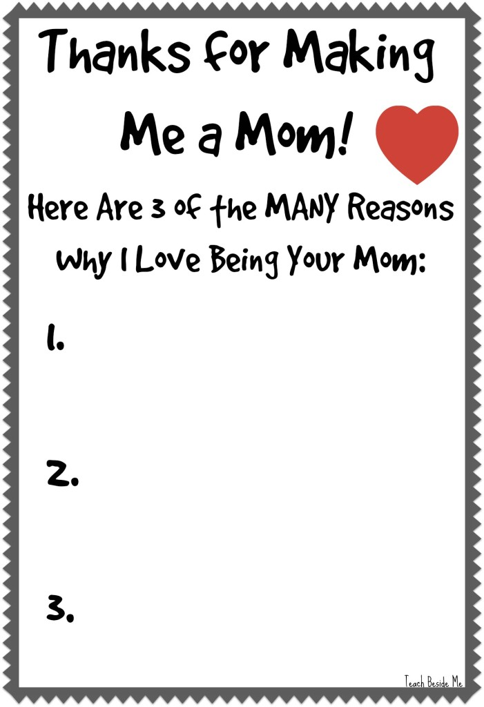 Thanks for Making Me a Mom