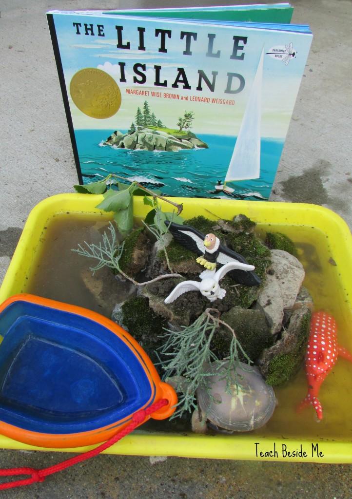 The Little Island Sensory Play from Teach Beside Me