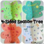 4-Sided season tree craft from Teach Beside Me