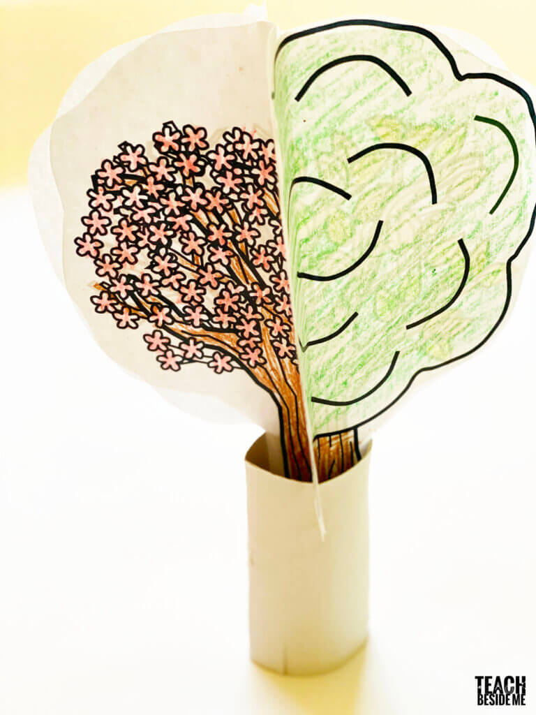 4 seasons tree craft for kids