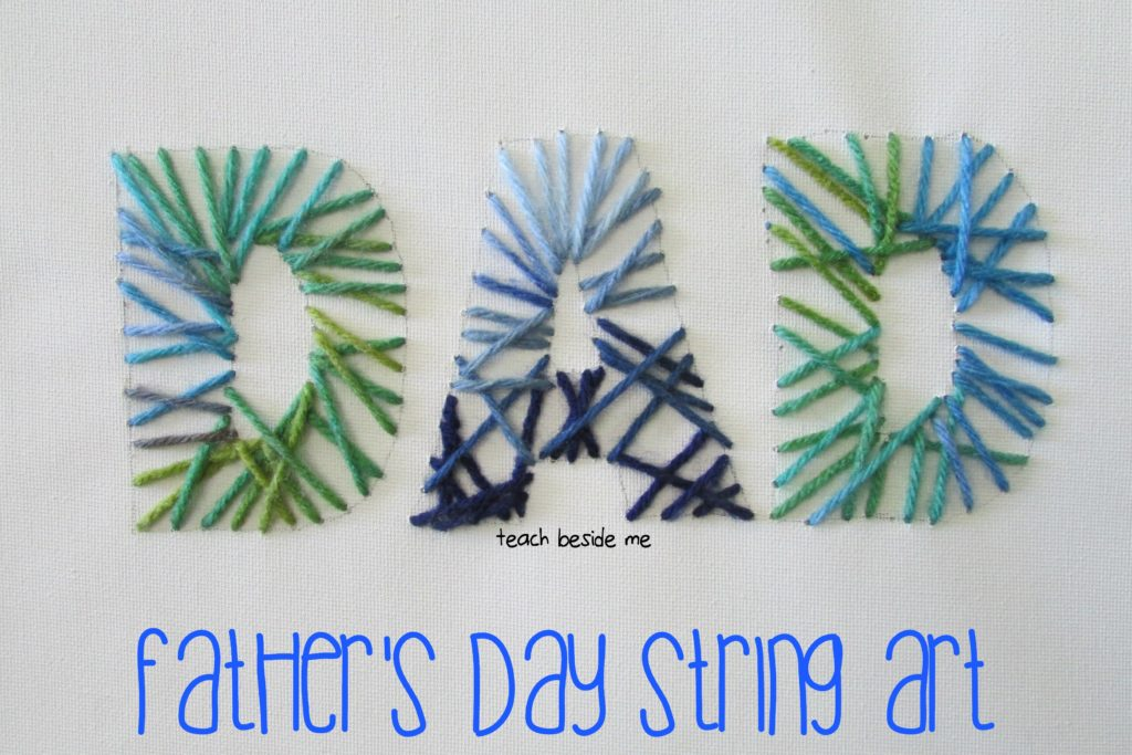 Father's Day String Art from Teach Beside Me