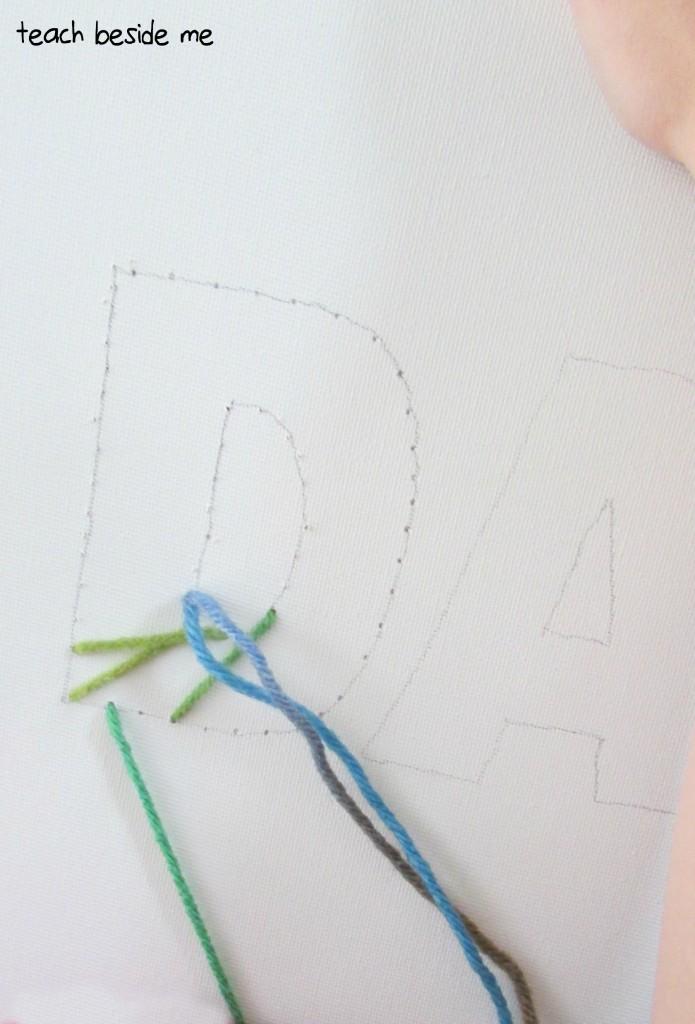 Dad String Art - Teach Beside Me