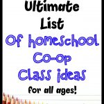 Homeschool Co-op Class Ideas