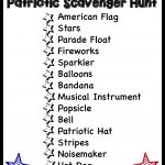 Patriotic Scavenger Hunt from Teach Beside Me