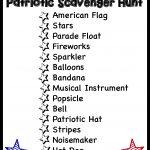 Patriotic Scavenger Hunt