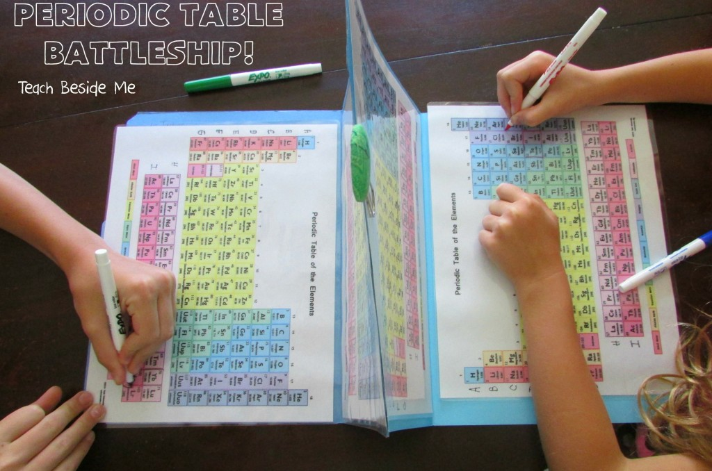 Periodic Table Battleship- chemistry for kids
