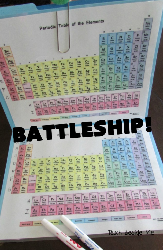 Periodic Table Battleship Teach Beside Me