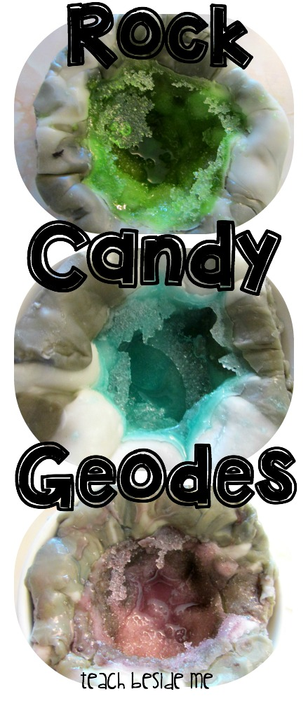 Rock Candy Geodes- kitchen science