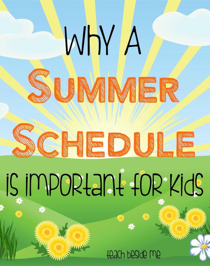 Summer Schedule for Kids- Teach Beside Me
