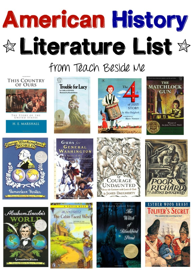 American History Literature List from Teach Beside Me