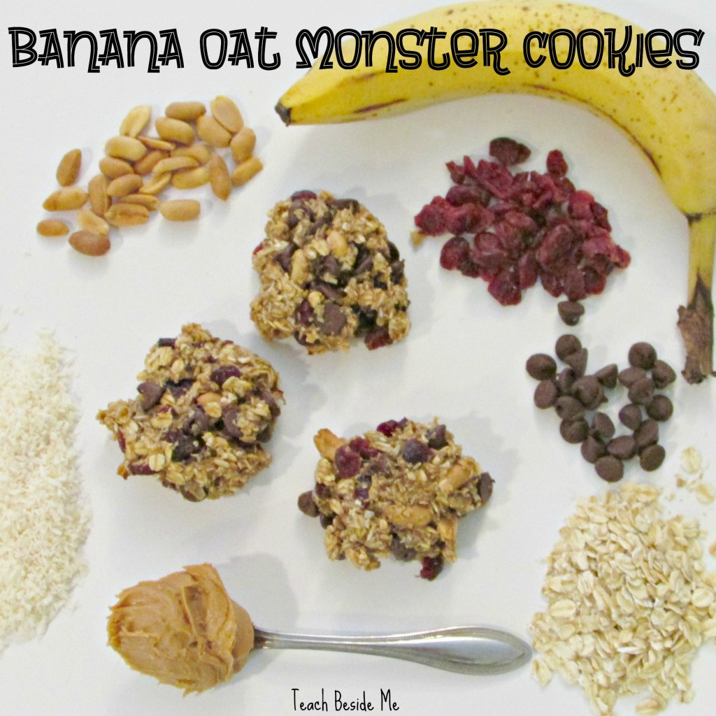 Banana Oat Monster Cookies- healthy snack for kids