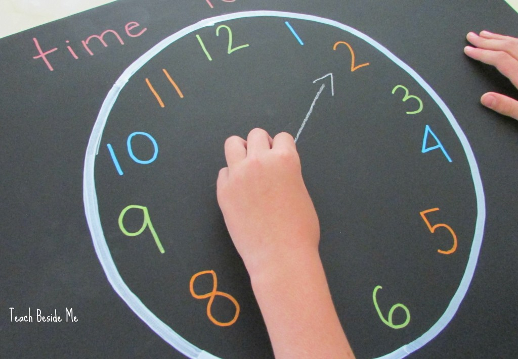 Chalkboard Clock for Kids