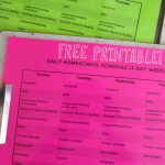 Printable Homeschool Schedule