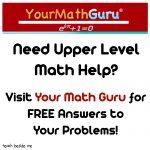 Upper Level Math Help