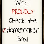 Proud to be a Homemaker