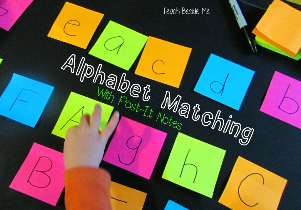 Alphabet Matching with Post-It Notes