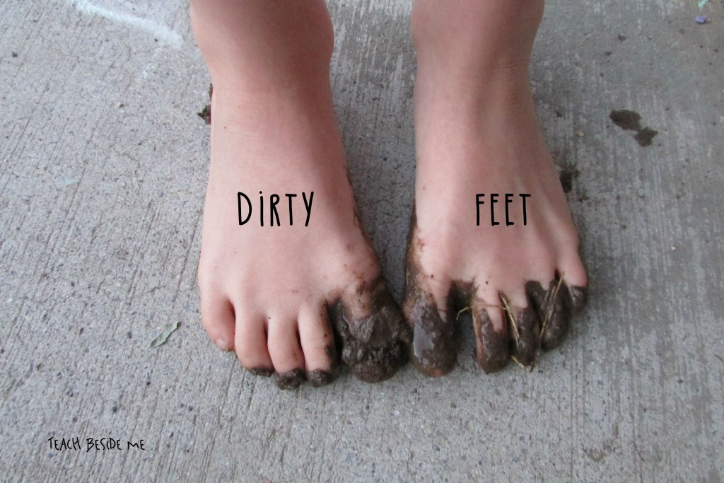 Dirty Feet in mud