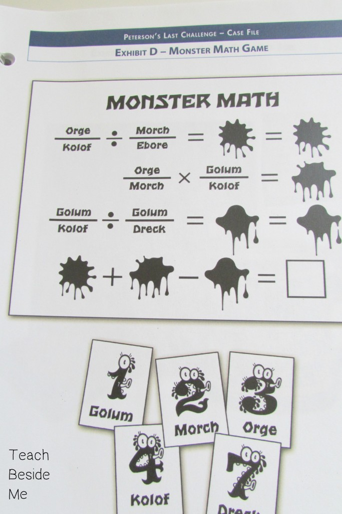 Math mystery exhibit example
