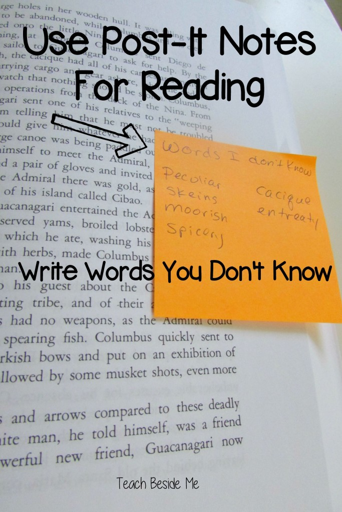 Post-It Notes For reading and Word Recognition