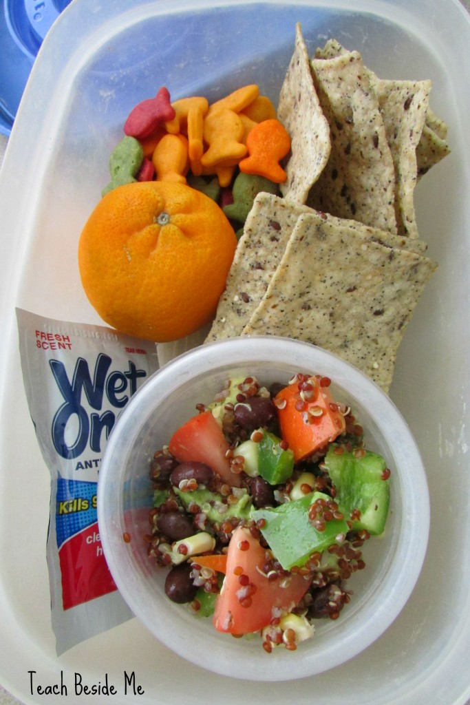 Quinoa salad lunch for kids