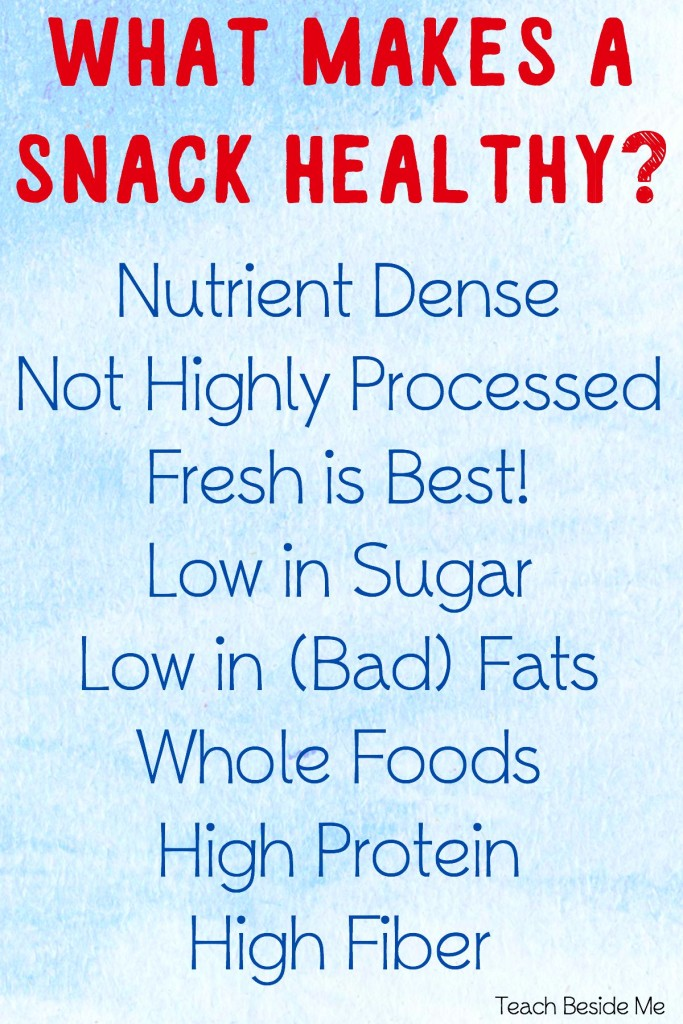 What makes a snack healthy
