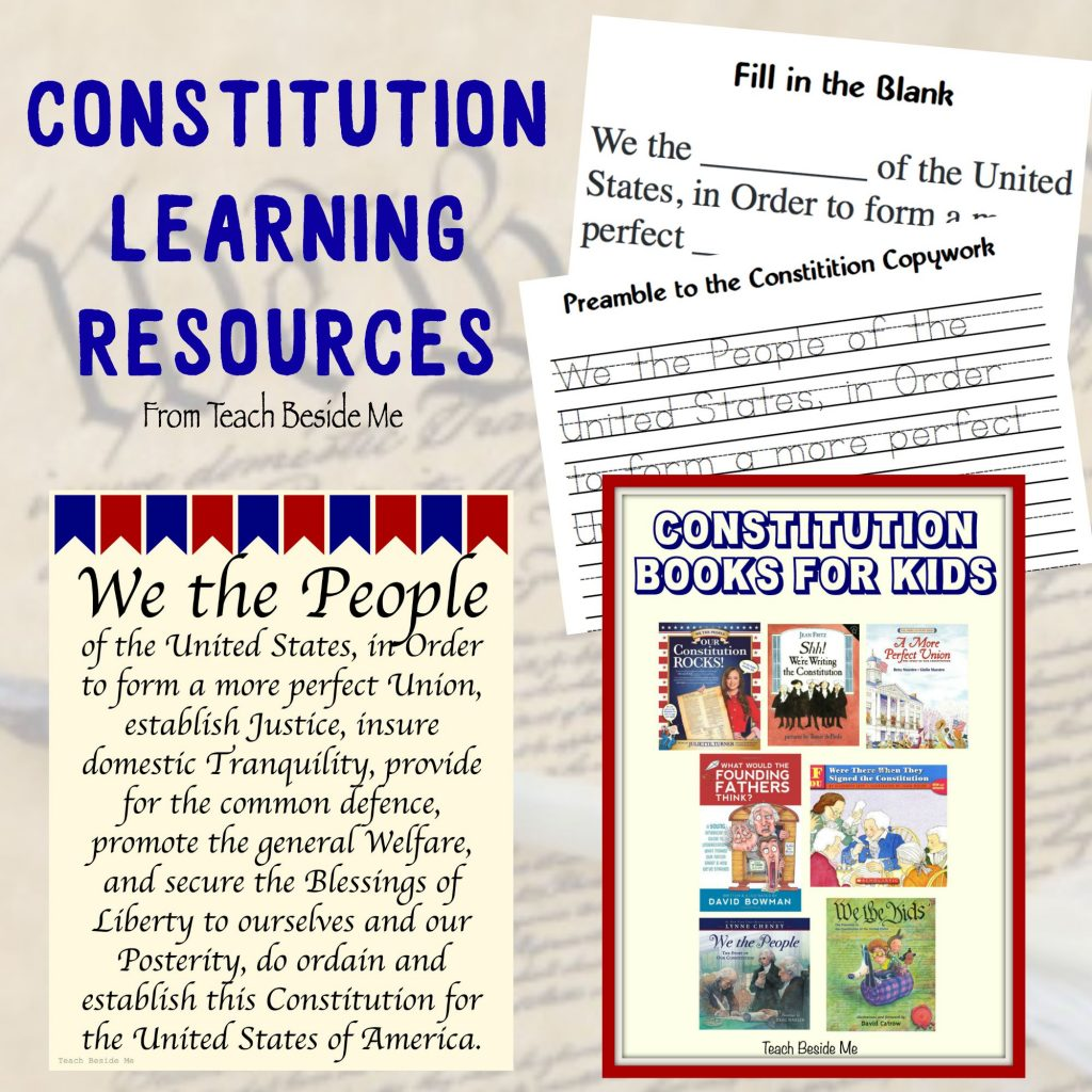 Constitution Learning Resources from Teach Beside Me