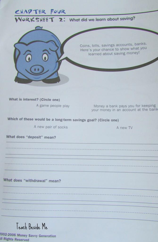 Money Savvy Kids workbook