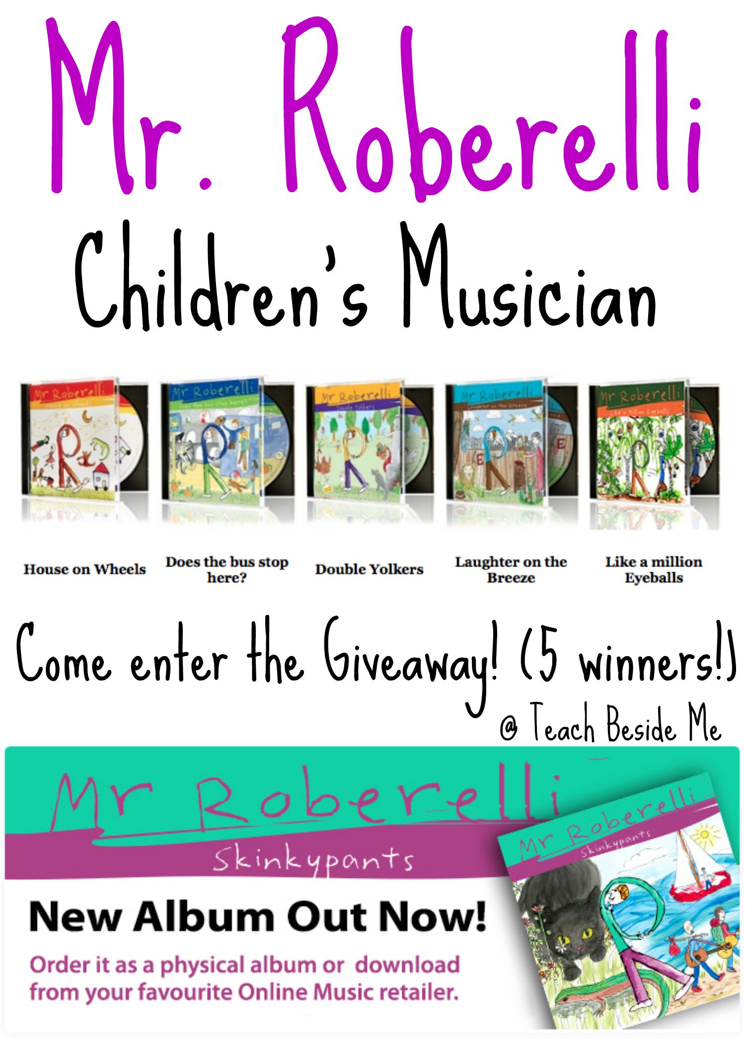 Children's Music by Mr. Roberelli (GIVEAWAY!)