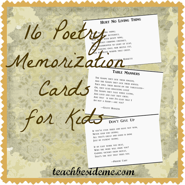 poetry memorization cards
