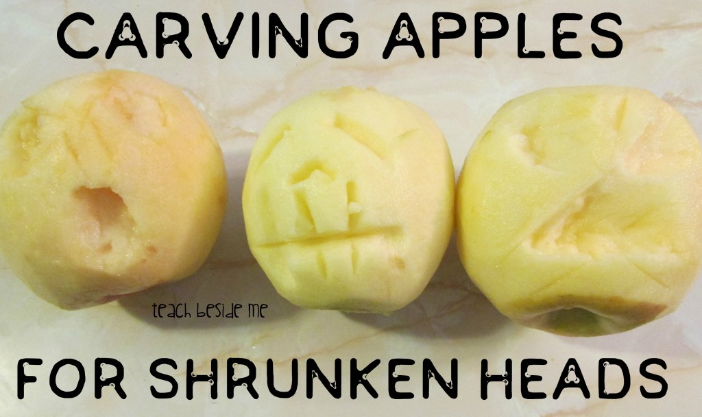 Carving Apple Heads