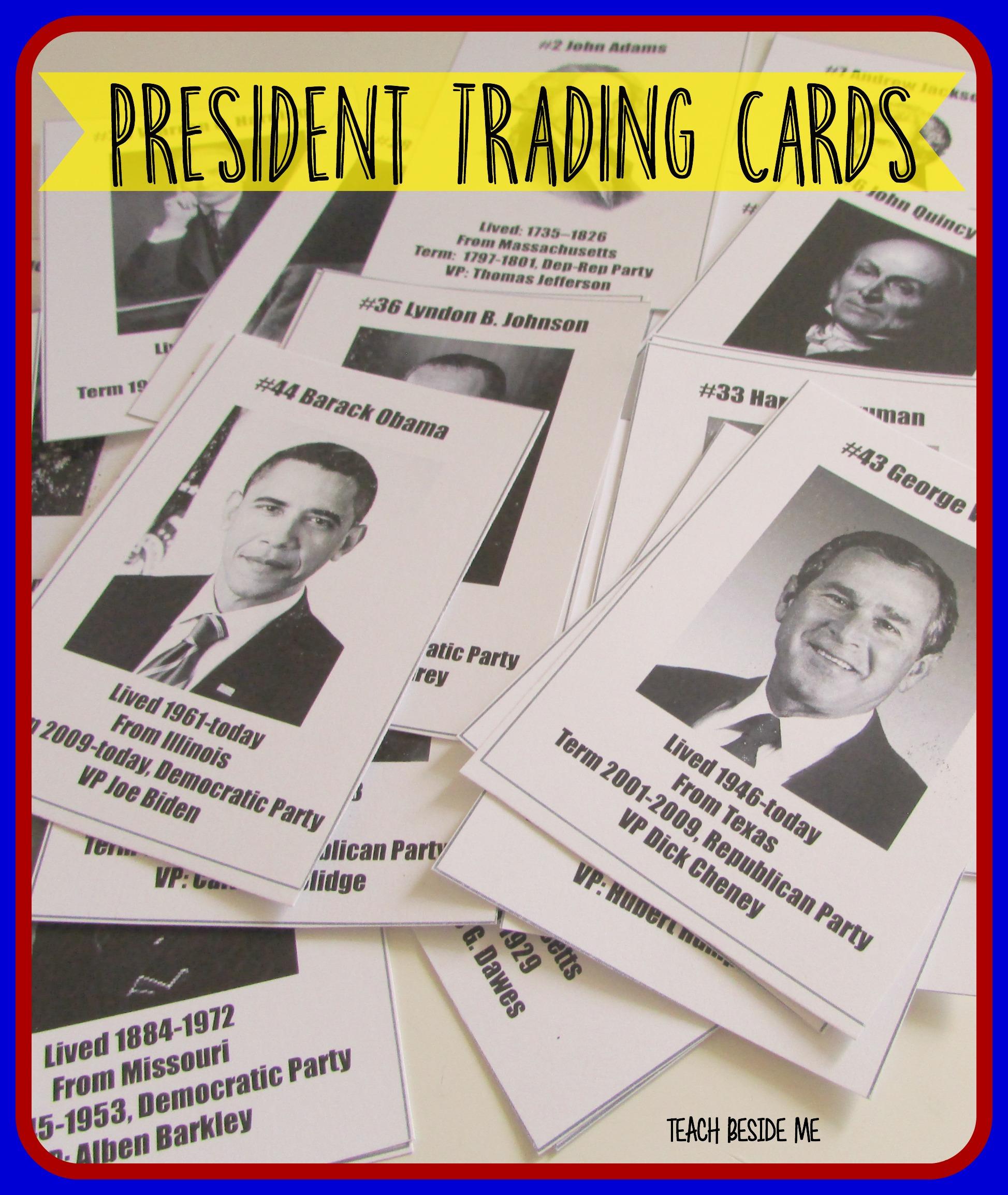 President Trading Cards