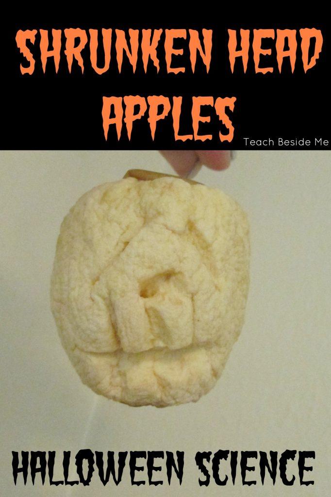 halloween kitchen science- shrunken head apple