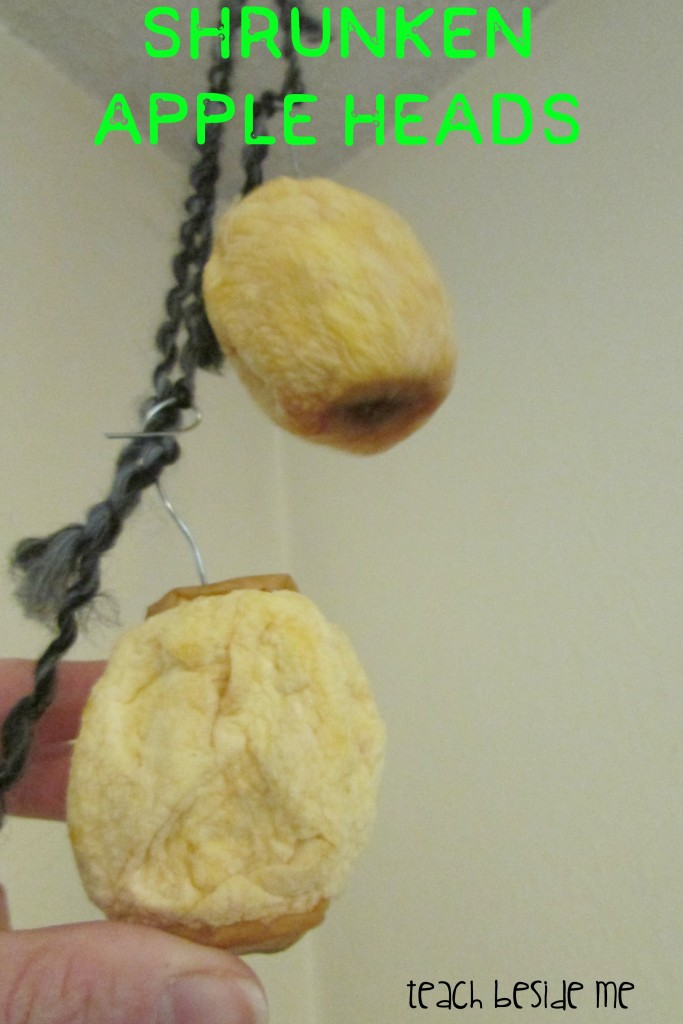 Shrunken apple heads- Halloween science
