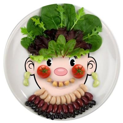 food face plates- gift idea