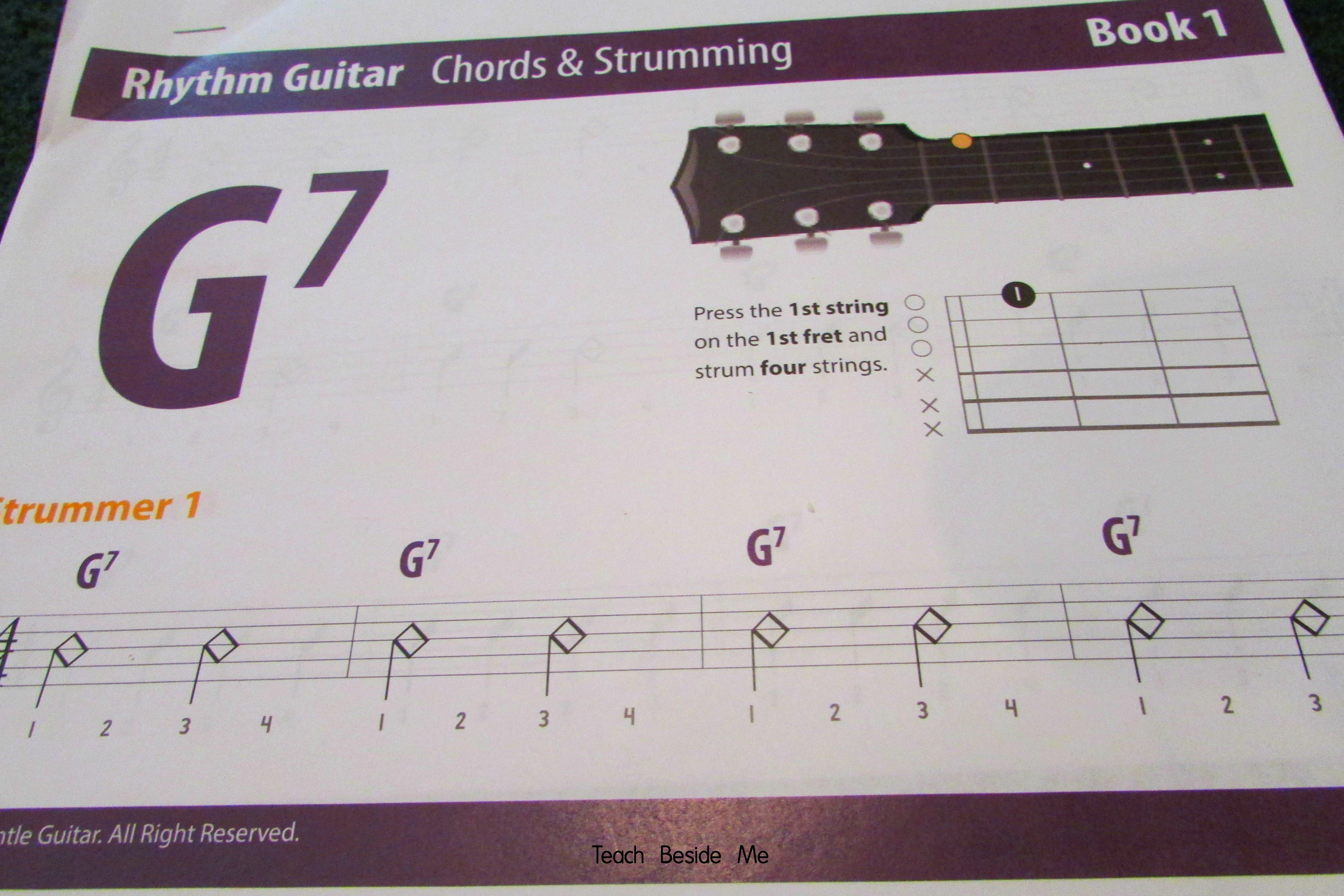 Gentle Guitar lesson book