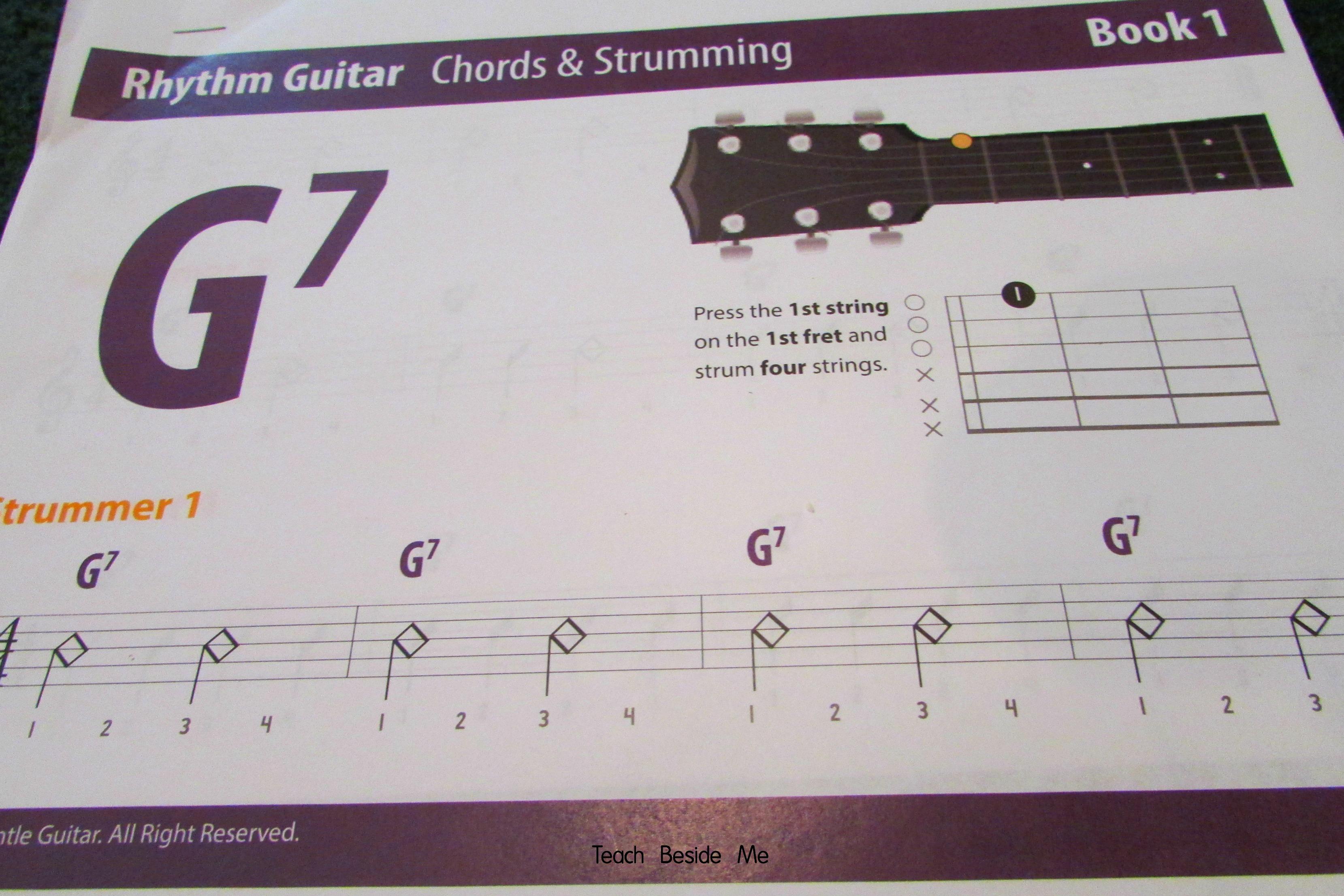 Gentle Guitar lesson book