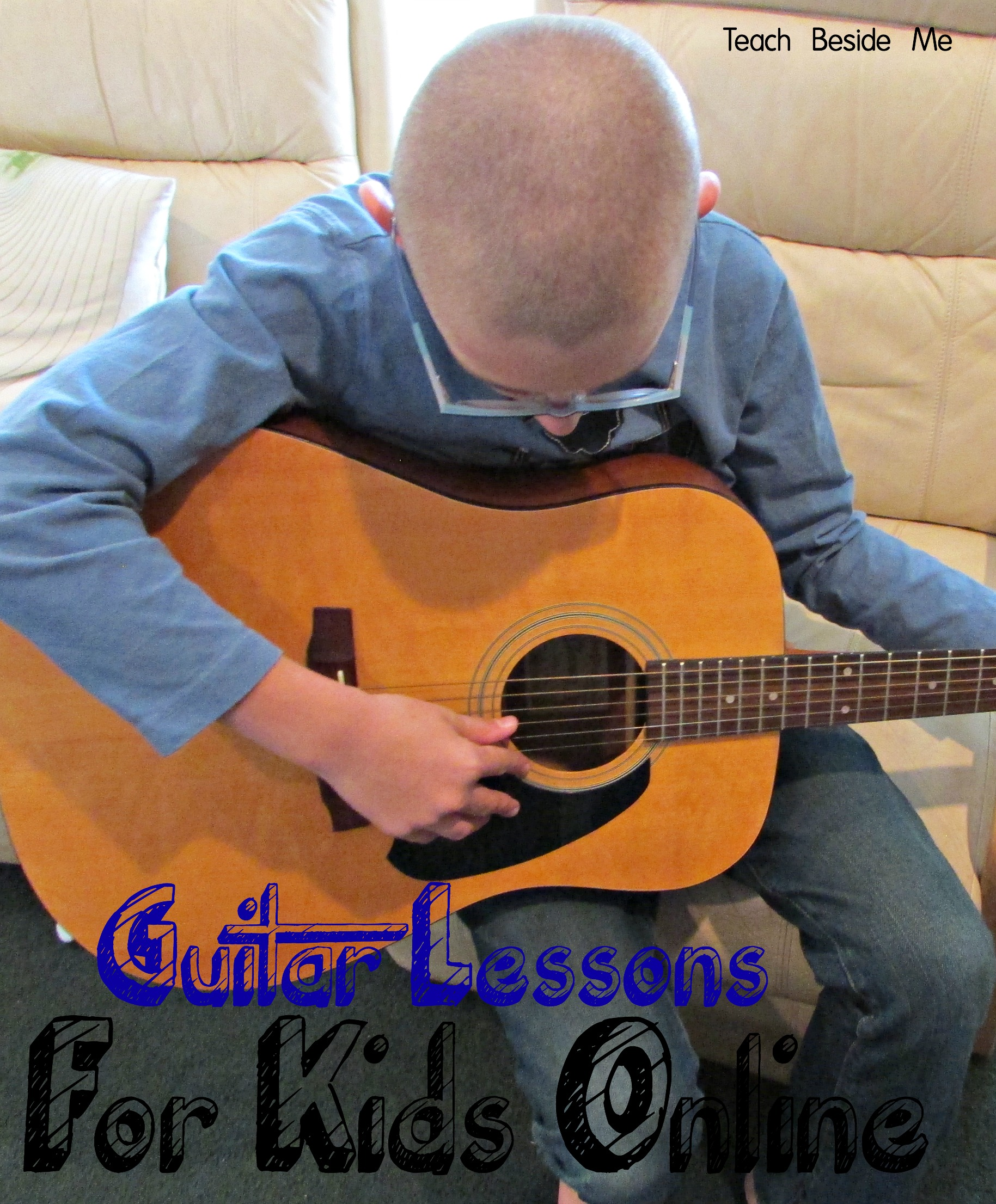 Guitar lessons for kids- online through Skype, or a video course