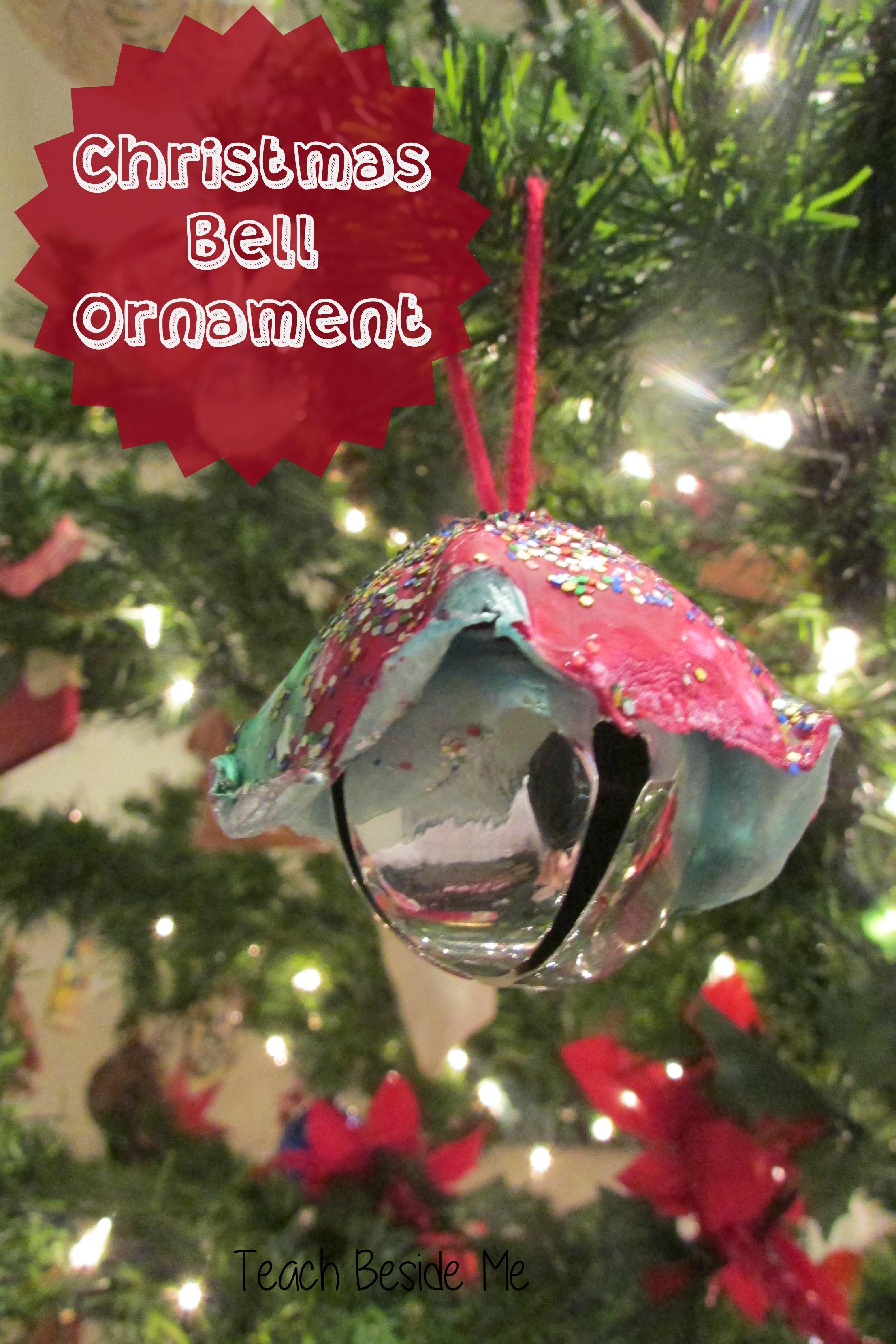 Christmas bell ornaments teach beside me