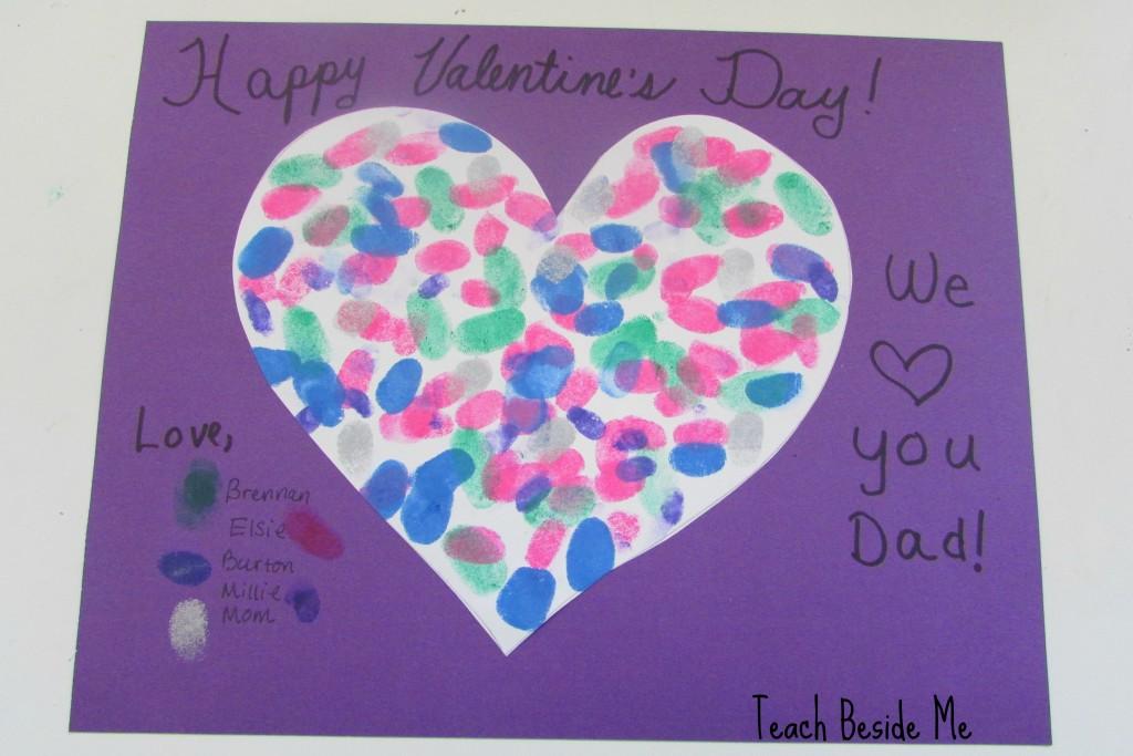 Fingerprint Heart Family Valentine