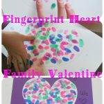 Fingerprint Heart Family Valentine
