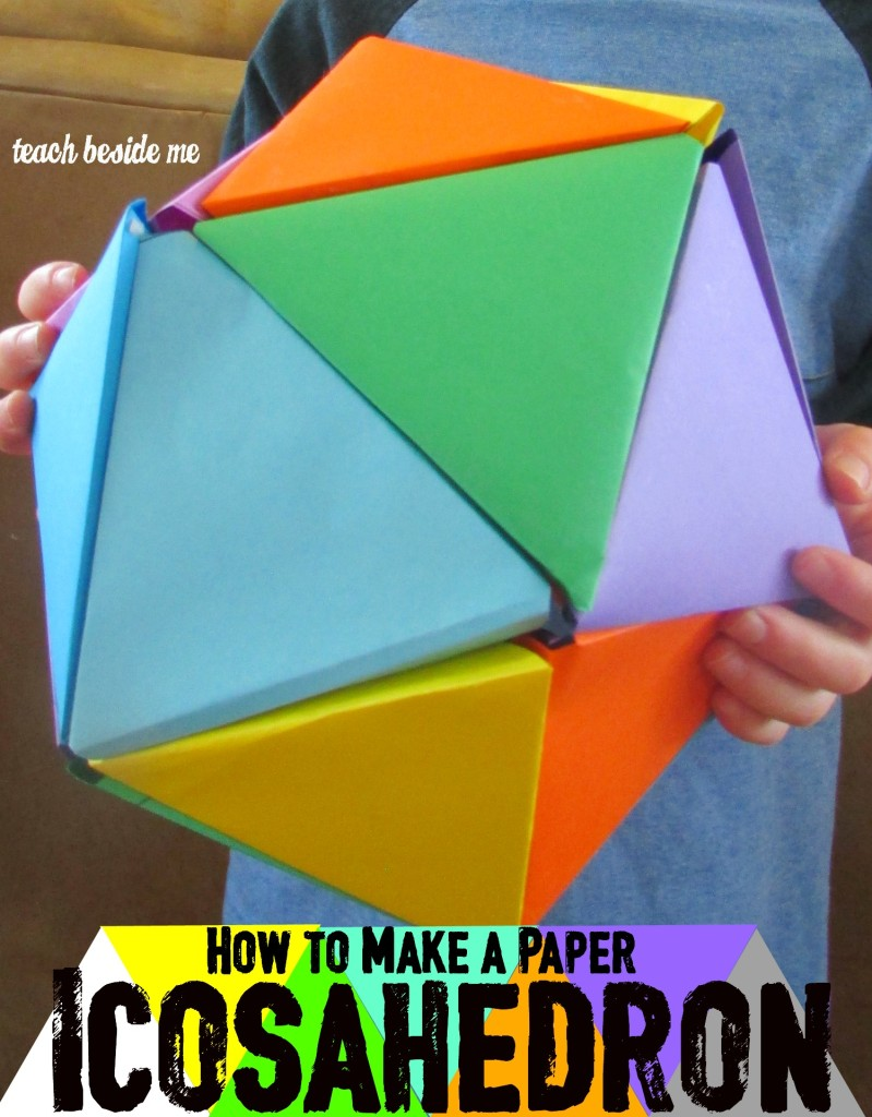 How to make a paper icosahedron