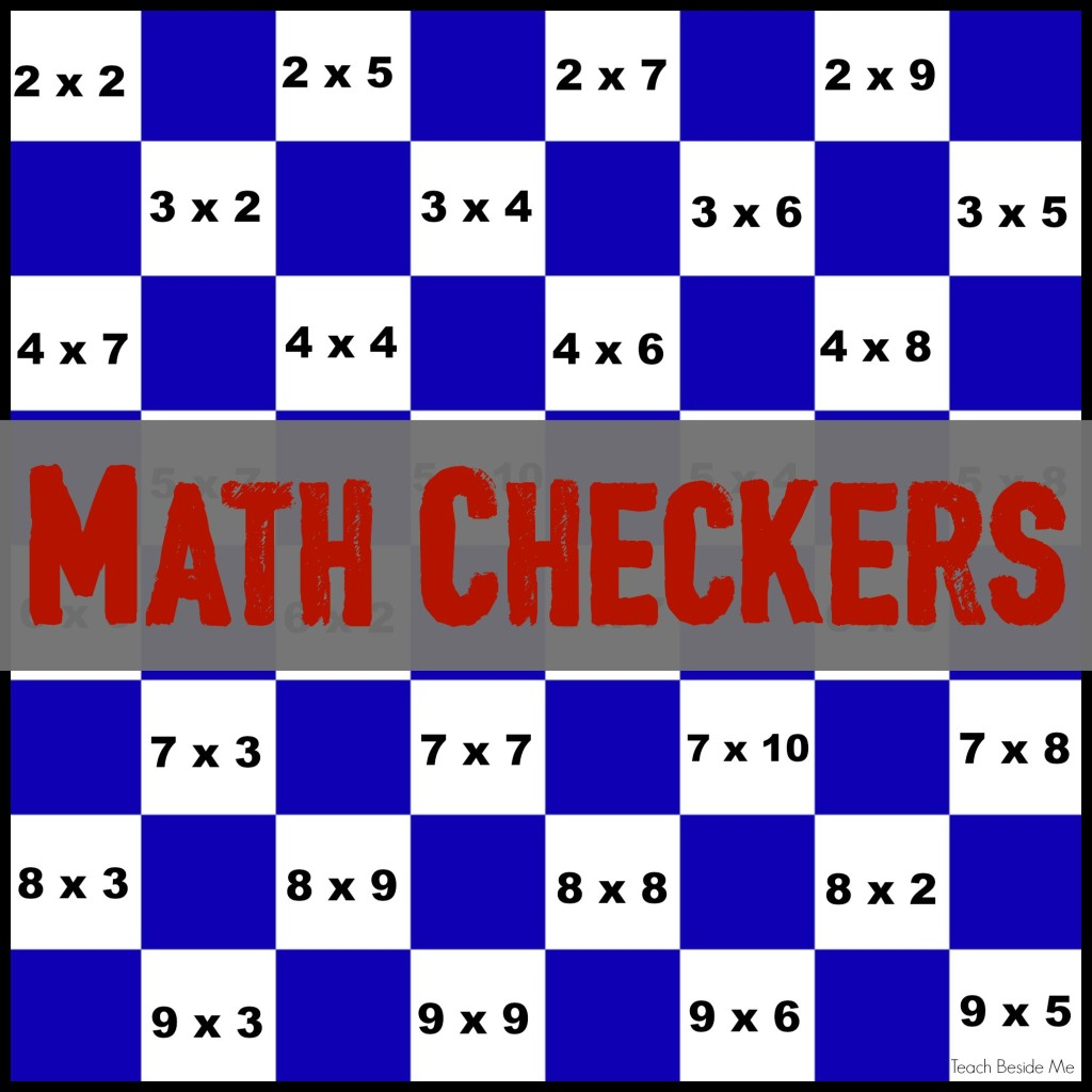 Math Checkers Board -Multiplication