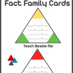 Printable Math Fact Families Cards