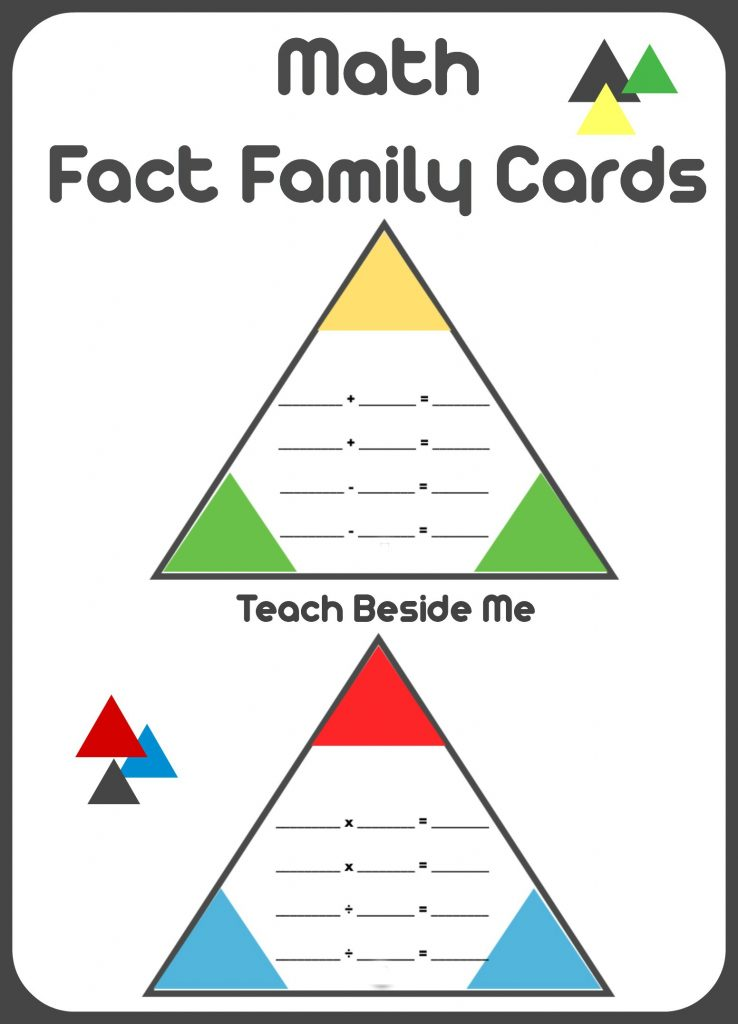 triangle multiplication flash cards pdf
