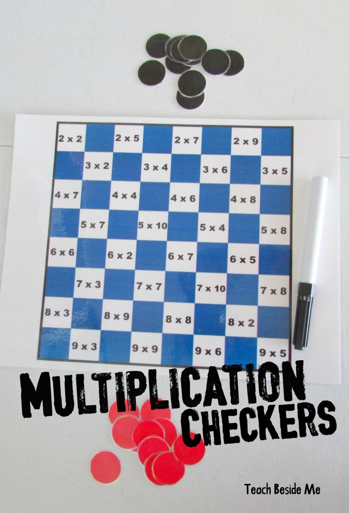 picture about Printable Checkers Board named Math Checkers Practice Beside Me