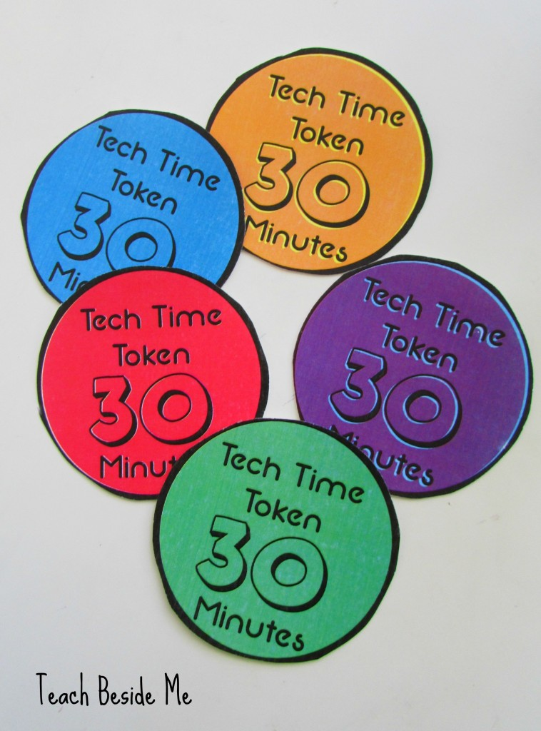 Printable Tech Time Tokens