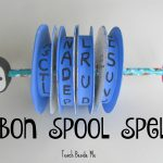 Ribbon Spool Speller Toy