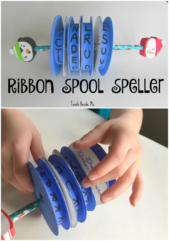 Ribbon Spool Spelling Toy
