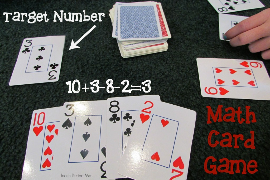 Target Number Math Card Game